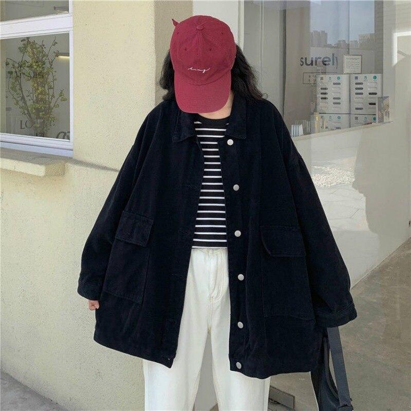 Купить женские рубашки deeptown в корейском стиле черная осенне зимняя