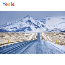 Yeele Merry Christmas Backdrop Winter Tree Snow Mountain Customized Photography Children Birthday Background For Photo Studio