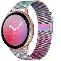 Cinturino ad anello magnetico per Samsung Galaxy watch 3 45m 41mm/Active 2 46mm/42mm Gear S3 bracciale Huawei GT/2/2e 20mm/22mm cinturino per orologio