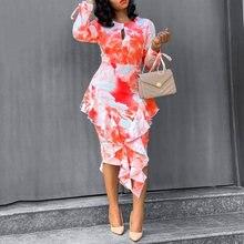 Элегантное сексуальное открытое платье в стиле бохо Цветочный