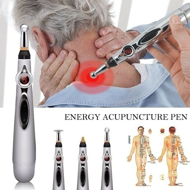 2019 New Electronic Acupuncture Pen Electric Meridians Laser Therapy Heal Massage Pen Meridian Energy Pen Relief Pain Tools 5