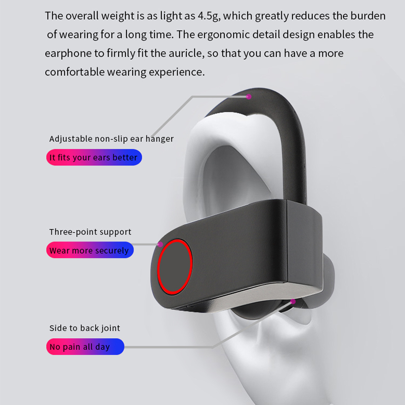 lowest price CALETOP Sports Wireless Earphone Bluetooth Headphone Ear Hook with Microphone Waterproof Running Noise Cancelling Stereo Earbuds