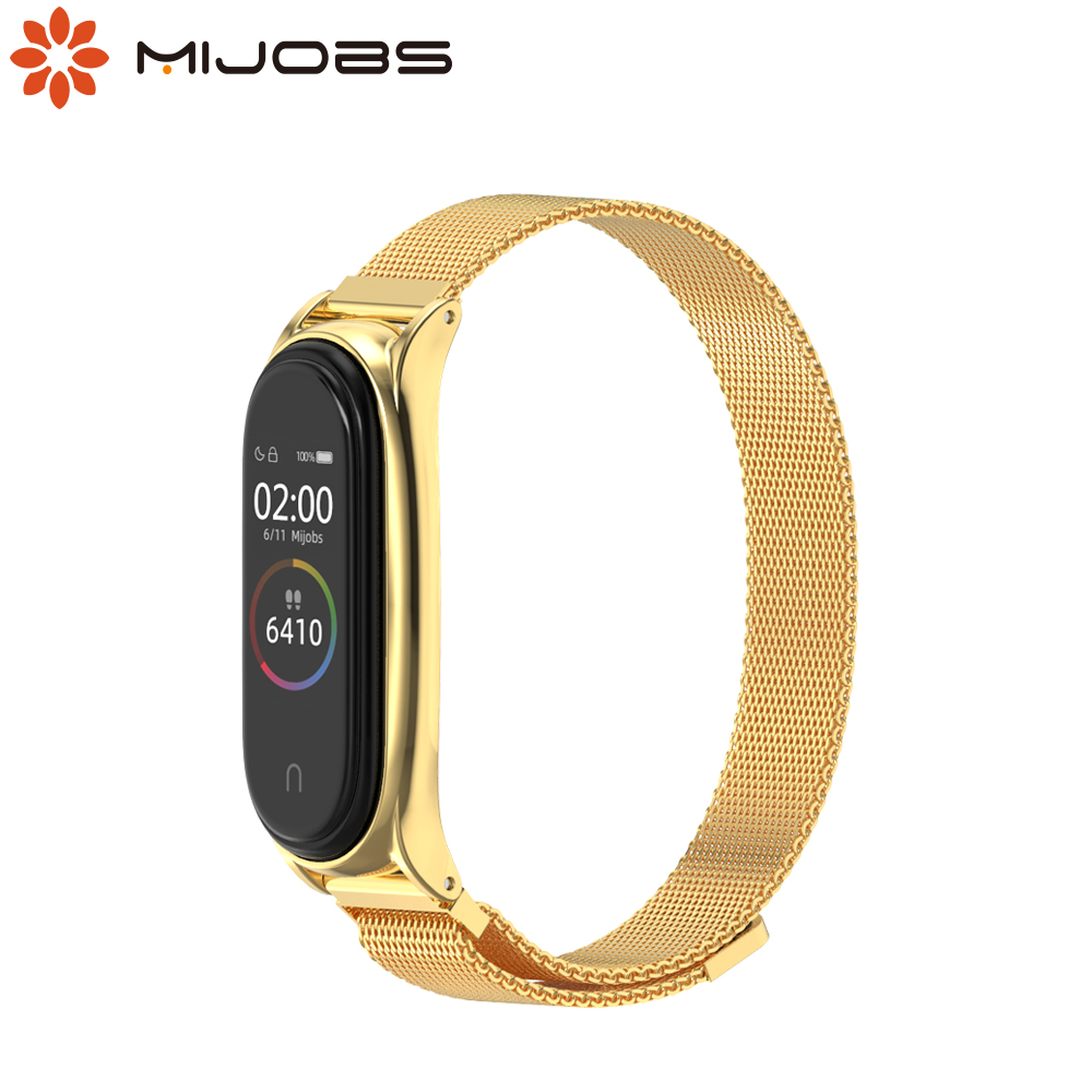 Mi Band 5 Strap Wrist Bands for Xiaomi Mi Band 4 Bracelet Metal Magnetic Mi Band 3 Smart Wristbands Strap NFC Global Version image