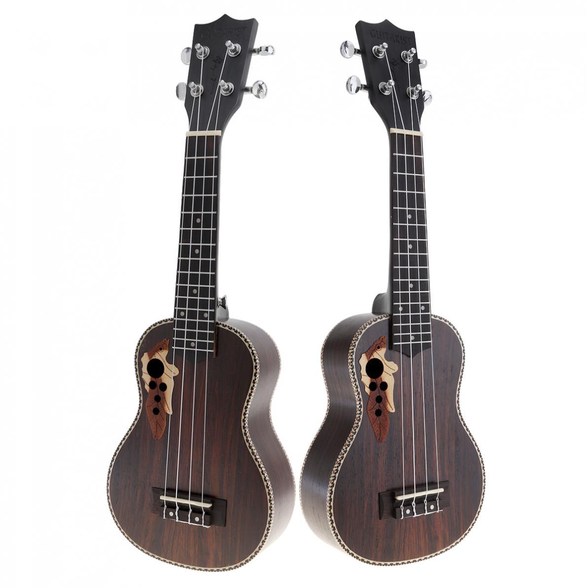 Ukulélé 21 pouces Soprano plein bois de rose acoustique ukulélé Uke 4 cordes Hawaii guitare Instrument de guitare avec chaîne italienne AQ