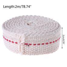 Oil-Lamp Wick Premium Roll Flat-Cotton Red Wide Mate Stitch