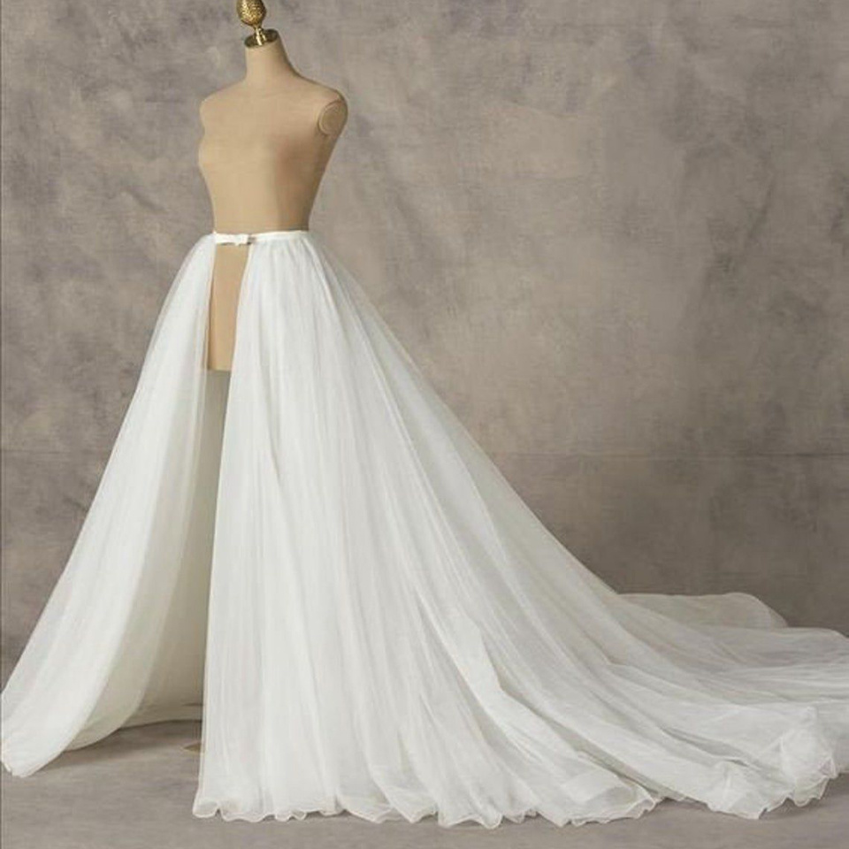 Mingli Tengda Detachable Train Tulle Bridal Petticoats For Wedding Dress 3 Layers Elegant Petticoat Underskirt Custom Made TuTu