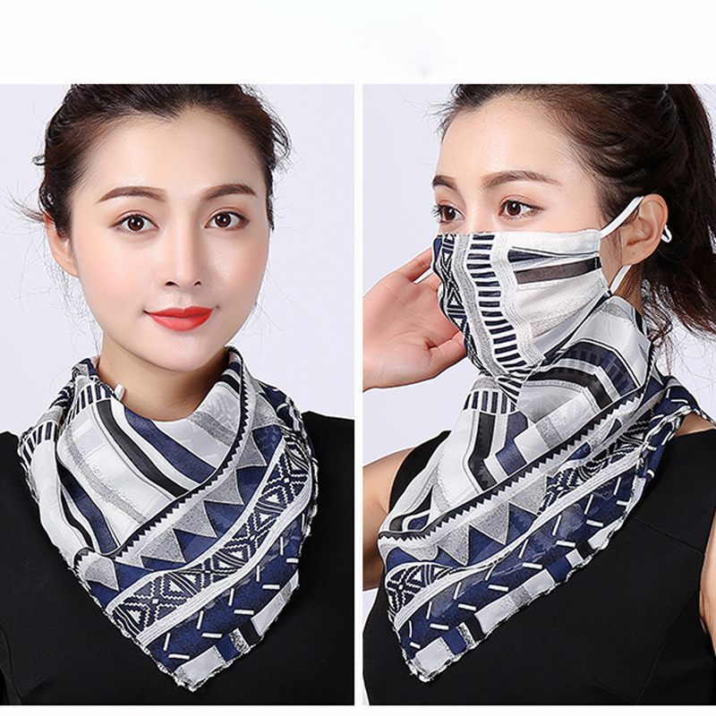 Protective Face Mask Face Mask Triangle Scarf Neck Hanging Ear Scarf  Face Mask Veil Covering Face Mask Bandana Hair Accessories
