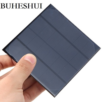 BUHESHUI 3W 6V Monocrystalline Mini Solar Panel DIY Solar Panel Chargr For 3.7V Battery Study 132*132MM Wholesale 500pcs