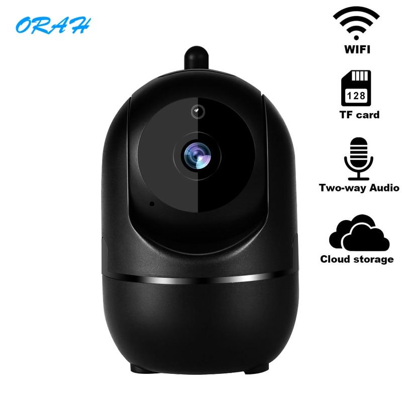 1080P Wireless IP Camera Cloud Wifi Camera Smart Auto Tracking Human Home Security Surveillance CCTV Network Indoor Black IP Cam