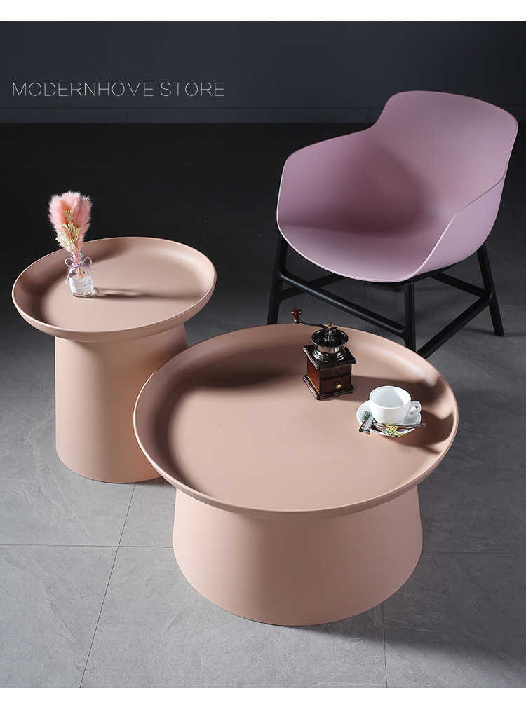 Modern Fashion Design Plastic Outdoor Pp Soft Color Nordic Top Selling Promotion Wholesale Sofa Colorful Side Coffee Table 1pc Coffee Tables Aliexpress