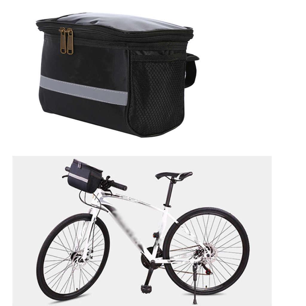 Bike Handlebar Bag Bicycle Front Basket Storage Bag Outdoor Cycling Riding Pack