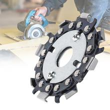 2.5 Inch Chain Grinder Saws Disc Woodworking Plate Tool Multi-Functional Wood Carving Angle Grinding T