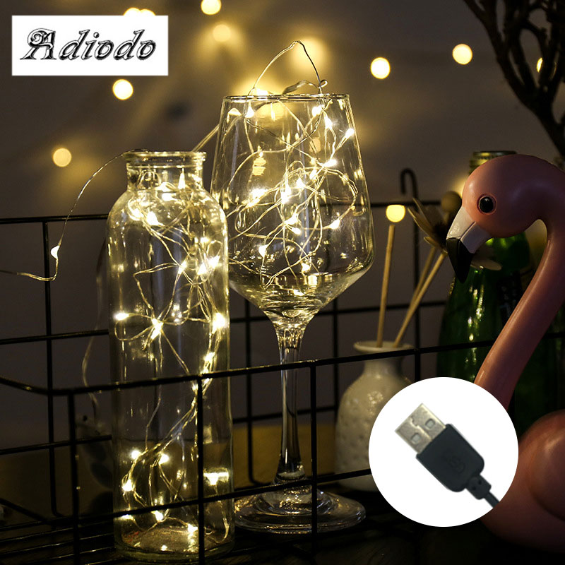1M 2M 5M 10M Copper Wire LED String Lamp Fairy Lights Night Light For Christmas Garland New Year Xmas Wedding Party Decoration