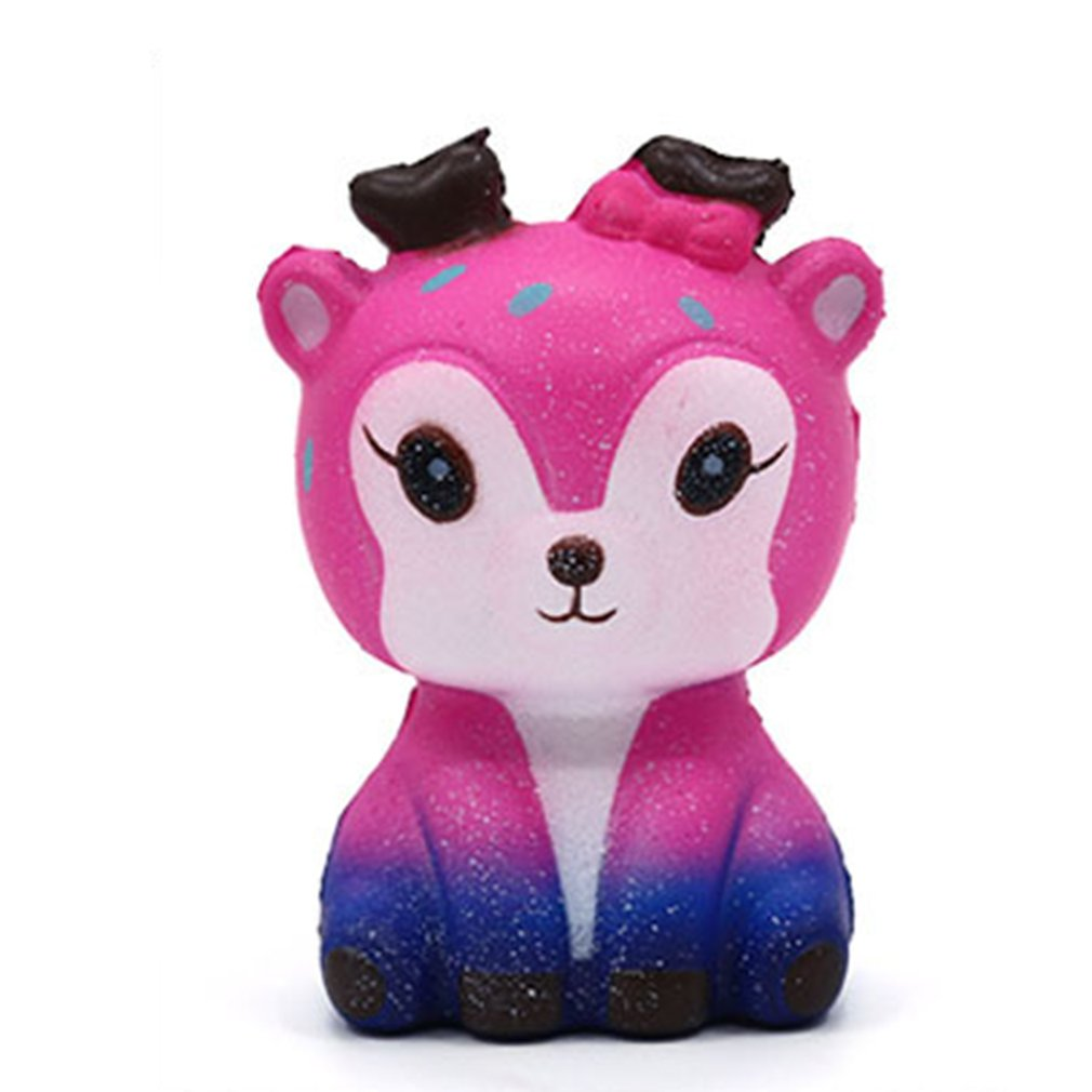 OCDAY Mini Kawaii Cartoon Deer Squishy Slow Rising PU Cream Scented Stress Reliever Creative Squeeze Toy For Kids Adults New Hot