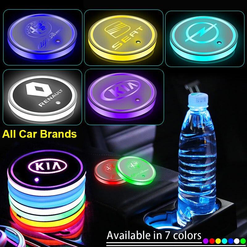 1 шт. Светодиодные Автомобильные подсветки для стаканов, светящиеся подставки для напитков для BMW 3 серии 5 серии 7 серии e46 e90 e60 Z4 X3 X4 X5 X6, автом...