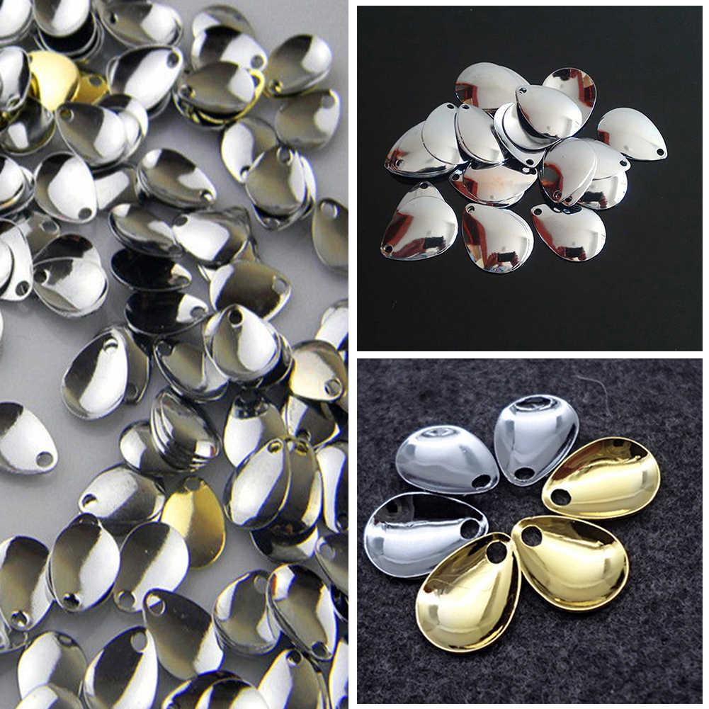 Новая Вращающаяся блесна кольца лезвия гладкие никелевые ложки для снастей ремесло DIY приманка рыболовный инструмент Соблазнительные Аксессуары #928