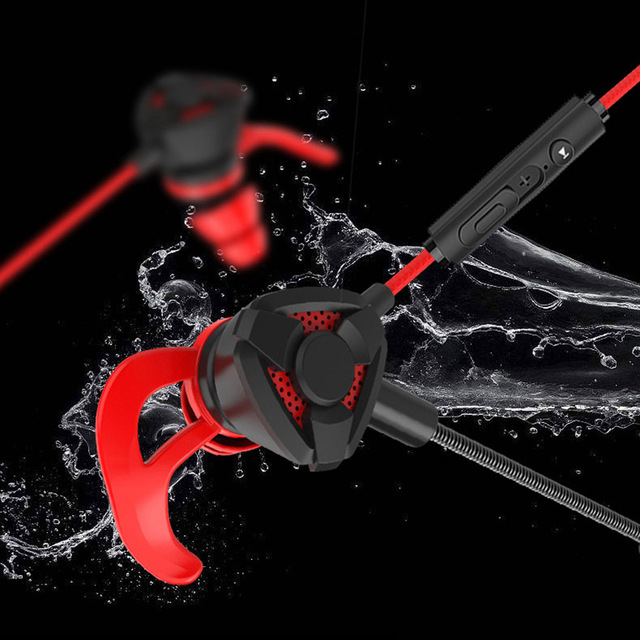 Portable Dynamic Noise Reduction In-Ear Wired Call Earphones Gaming Computer Earpiece With Dual Mic 2