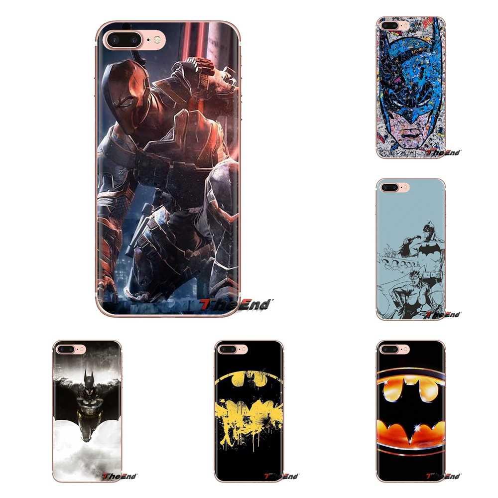 Anime Süper Kahraman Batman logo Şeffaf TPU Konut Için Xiao mi mi 6 mi 6 A1 Max mi x 2 5X 6X Kırmızı mi not 5 5A 4X 4A A4 4 3 artı Pro