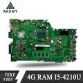 Akemy X751LA материнская плата для ноутбука ASUS X751LA X751LAB X751LD X751L X751 Teste материнская плата Оригинал 4G RAM I5-4210U
