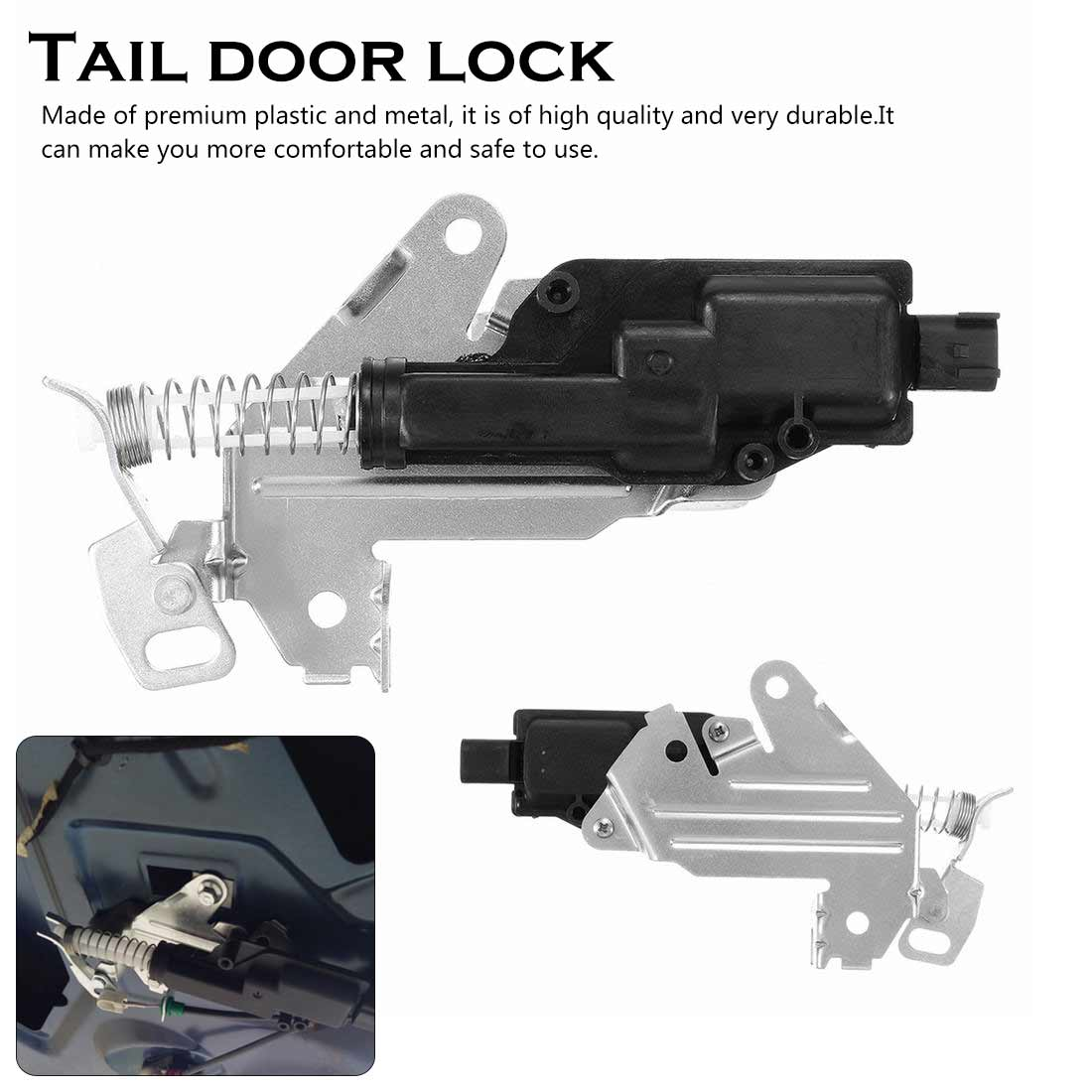 FOR FORD FUSION FIESTA BOOT TRUNK LOCK LATCH CATCH MOTOR ACTUATOR SOLENOID Black