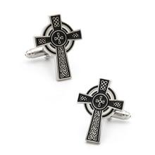 Cross-Cufflinks Vintage-Design Black-Color Quality Wholesale Men Copper for