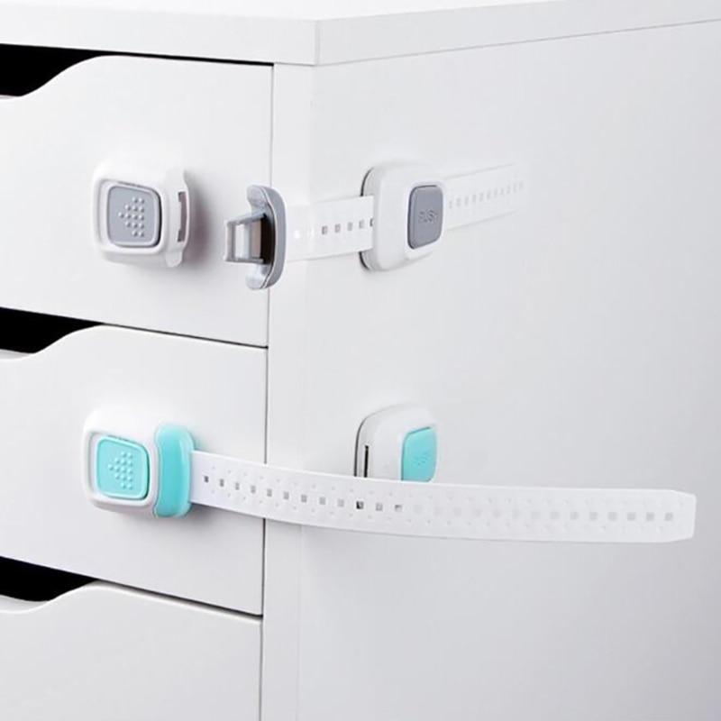 2020 Safety Plastic Cabinet Locks Child Safety Lock Protection Children Locking Doors For Children's Kids Anti-Clip Drawer Lock