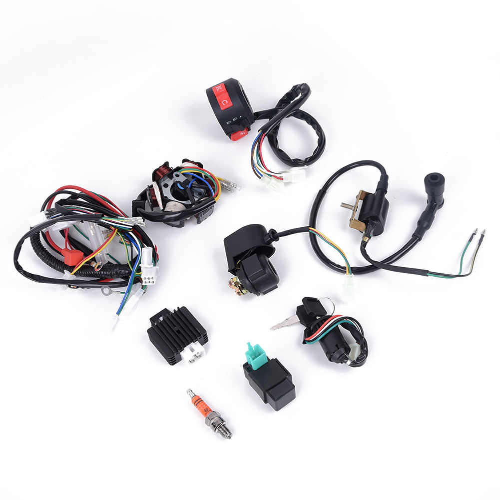 wiring harness kit for atv cdi wire wiring harness assembly kit atv electric start quad 50 70  wire wiring harness assembly kit atv