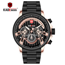 купить Top Luxury Relogio Masculino Brand Mens Watches Casual Large Dial Multi-Function Stainless Steel Strap Quartz Watch Reloj Hombre дешево