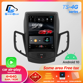 32G ROM Vertical screen android 10.0 car gps multimedia video radio player in dash for ford fiesta 2009-2016 years car navigaton image