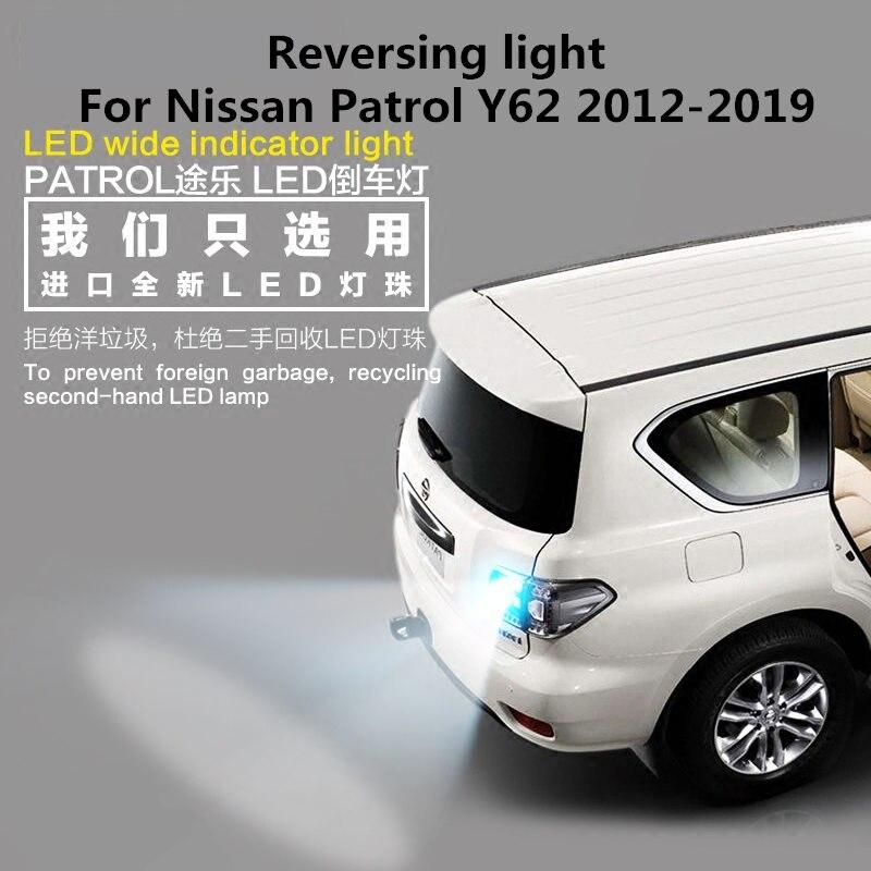 For Nissan Patrol Y62 12-18 Reverse Lights led  T15 12v 35W 5000k Car reversing light  2PCS