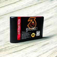 وحدة تحكم ألعاب الفيديو مورتال كومبات 3 الولايات المتحدة الأمريكية, بطاقة فلاش MD ذهبية بدون كهروكهربائية PCB لألعاب Sega Genesis كونسول ألعاب الفيديو Megadrive