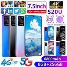 7.5-Polegada galay s20u rede mtk6799 android 9.1 smartphone 8g ram 512g rom deca núcleo 4 câmera versão global celular indefinido