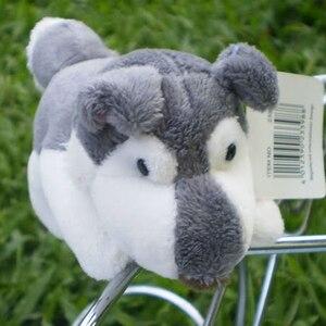 Clássico cinza cão bonito brinquedos de pelúcia geladeira ímã geladeira geladeira ímã animais de pelúcia