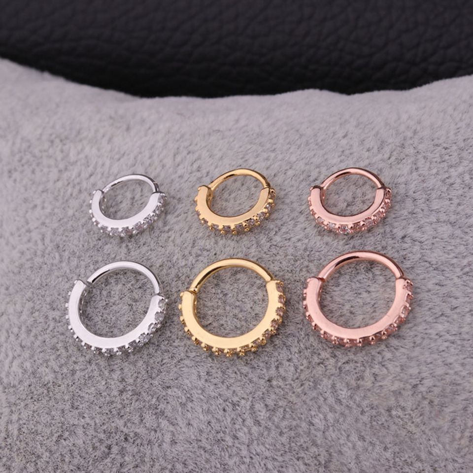 Real Septum Jewelry New Mother Of Pearl Septum Clicker Nose Hoop Fashion Piercing Body Jewelry Aliexpress