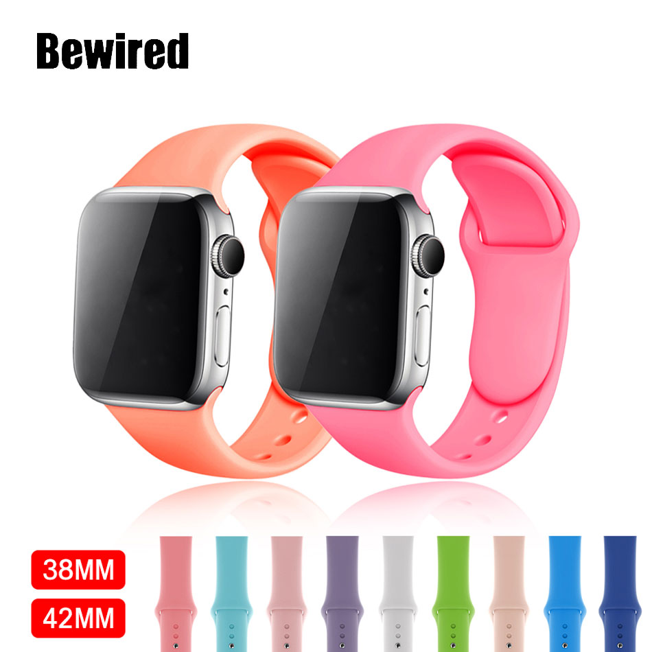 Loop Band For Apple Watch Band Strap 38mm 40mm For Iwatch 5/4/3/2/1 42mm 44mm Soft Silicone Bracelet Wrist Watchband