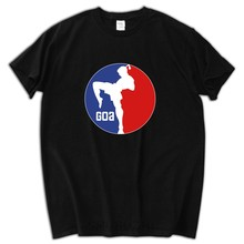 Harajuku Shirts Men Male Short Sleeve Cotton Custom Thailand Muay Thai Logo Adult Summer Tees Men T-shirts(China)