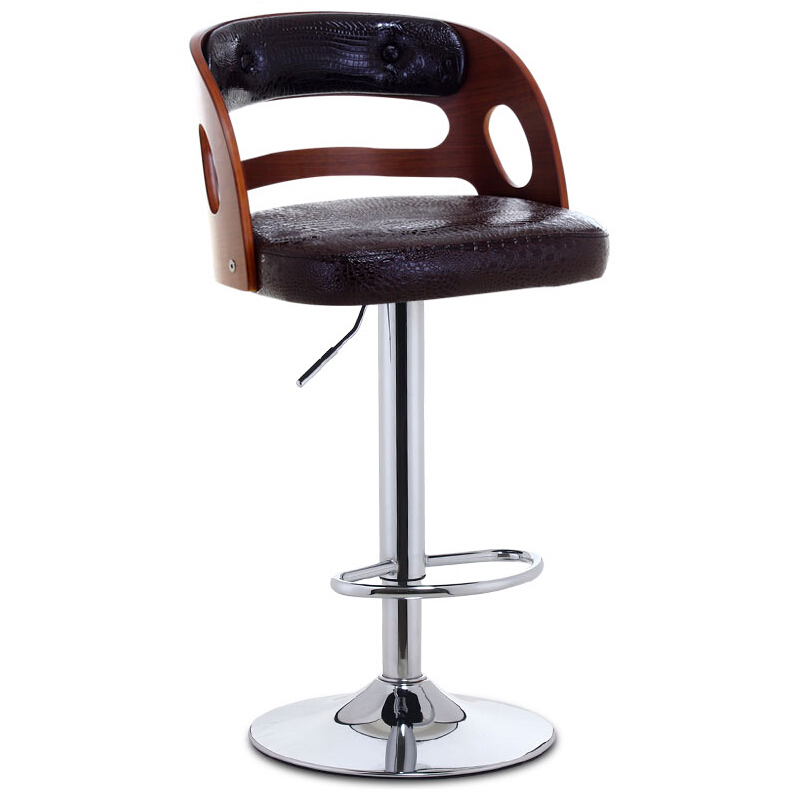 Bar Chair American Retro Bar Chair Bar Stool Solid Wood Bench Back Chair Bar Chair Lifting Rotating Chair