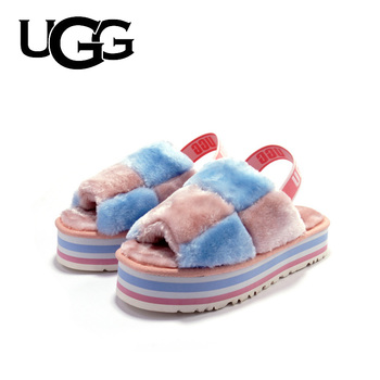 Fashion Fur Slippers Original UGG Slipper Sandals Women Luxury Fur Slippers Ladies Soft Comfortable Flat Shoes Home Shoes millffy wool slippers home package with comfortable men and women couple fur large size shoes mother pregnant women shoes