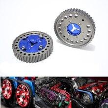2 шт. для Mazda MX5 автомобильные регулируемые алюминиевые Анодированные гоночные запчасти Звездочка колеса распределительного вала Cam шкив ше...