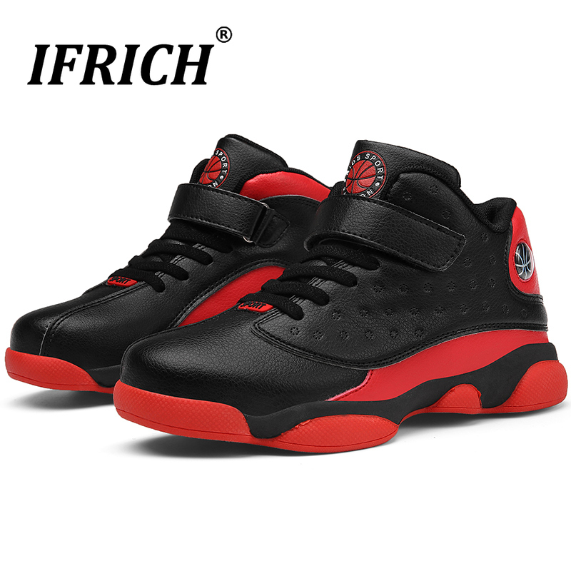 Boys Girls Kids Basketball Shoes High Top Basketball Training Boots Anti Slip Sport Shoes Children Gym Trainers Kids