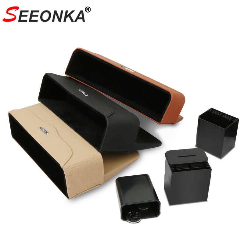 Органайзер для сиденья автомобиля из искусственной кожи, ящик для хранения сидений, автомобильный органайзер, продукт с коробкой для монет