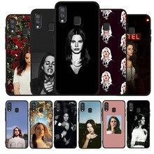 Sexy cantante modelo Lana Del Rey negro caso de teléfono para Samsung Galaxy A71 A51 A41 A31 A20E A10 A20 A40 A50 A70 M30S M20 A7 A8 A9