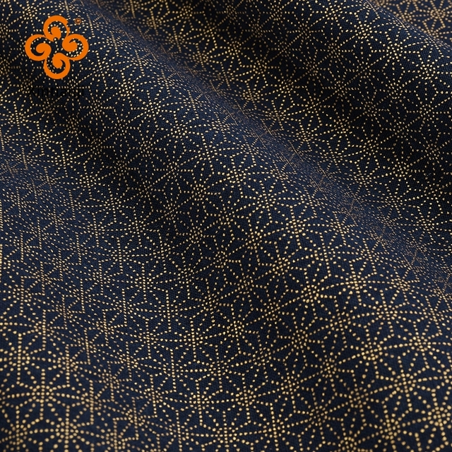Navy Cotton Fabric By Half Yards Japanese Sewing Fabric For DIY Kimono Handicraft Materials For Children TJ1023 5