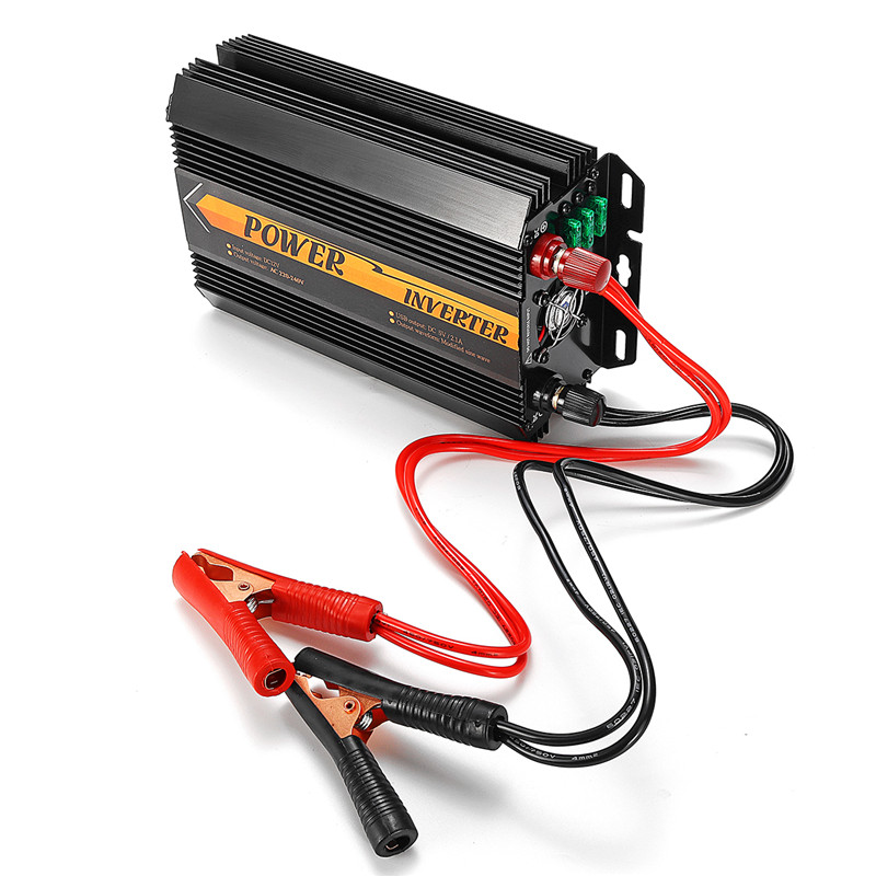 Dual USB Max 6000 Watts 3000W Power Inverter DC 12 V to AC 220 Volt Car Adapter Charge Converter Modified Sine Wave Transformer 23