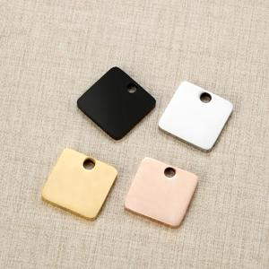 Image 5 - Mylongingcharm livre gravura 30 peças de aço inoxidável retângulo barra conectores logotipo personalizado ou design retângulo colar pingente