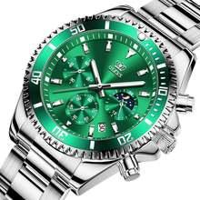 Olevs 2020 новые мужские часы Кварцевые Светящиеся из нержавеющей