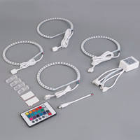For E46 Special Modification RGB Colorful Band Burst Flash Multi Functional Angel Circle