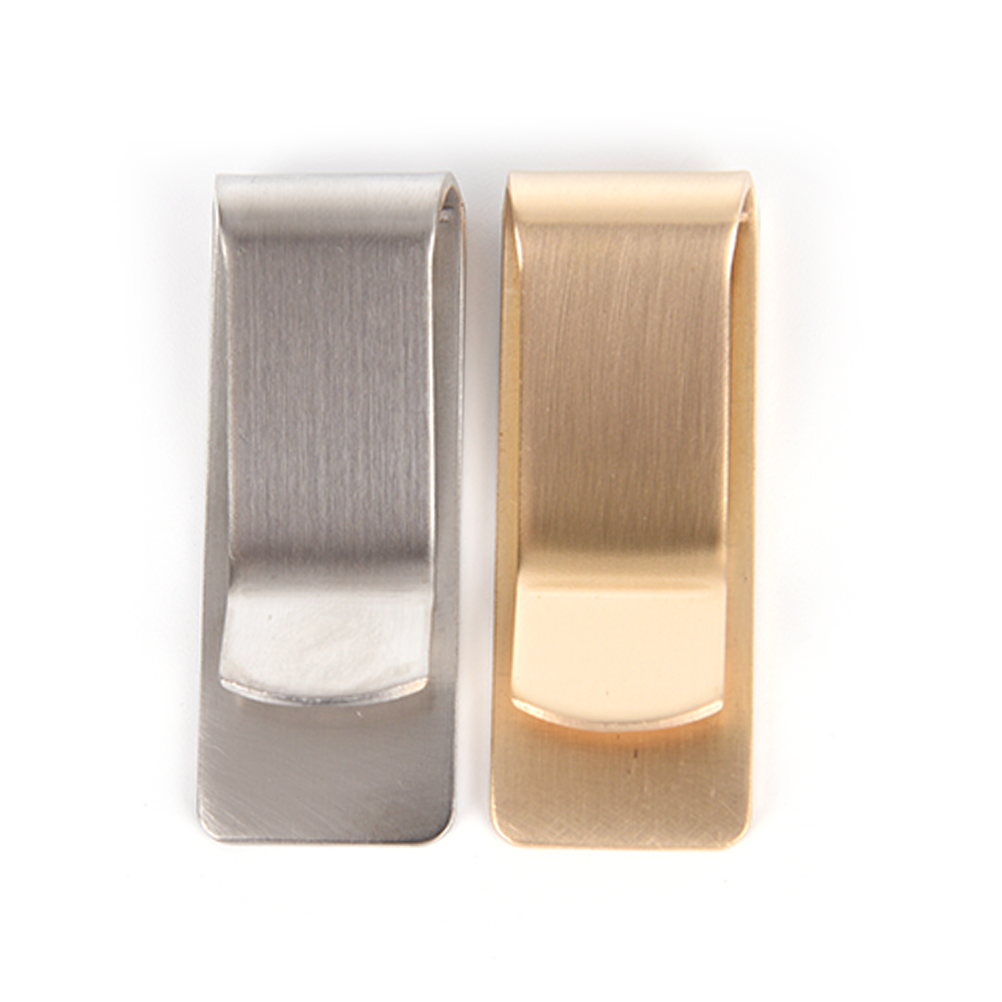 1PCS High Quality Stainless Steel Metal Money Clip Fashion Simple Dollar Cash Clamp Holder Wallet for Men Gold Silver