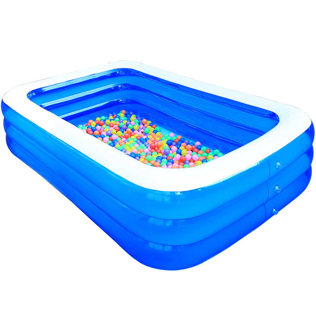 Folding Kid Inflatable Swimming Pool Tub Paddling Pool Outdoor Family Household Bath Tubs Inflated Tubs Summer Water Party
