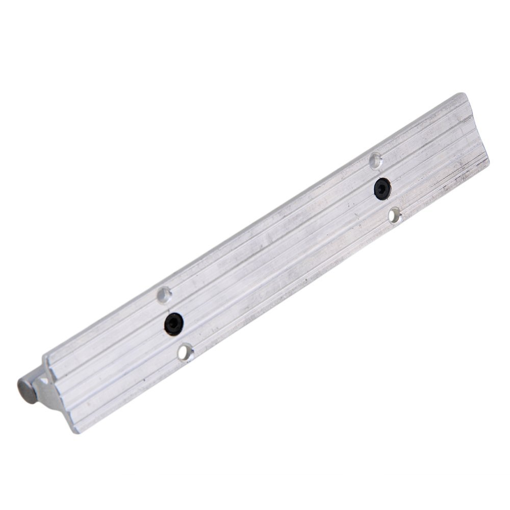 SBR10 Silver L200mm Linear Bearing Rail Guide Aluminum & Steel With 10mm Dia Shaft For CNC Machine